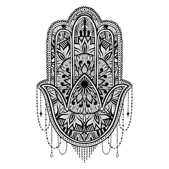 Hamsa talisman religion asian.