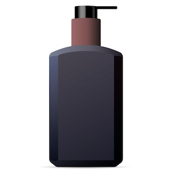 Hand and body wash men cosmetics bottle mockup.