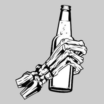 Hand bone illustration vector set