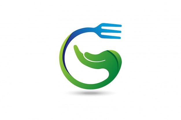 Hand care food logo