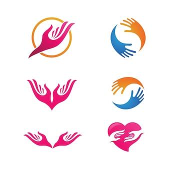 Дизайн иллюстрации вектора шаблона значка ухода за руками