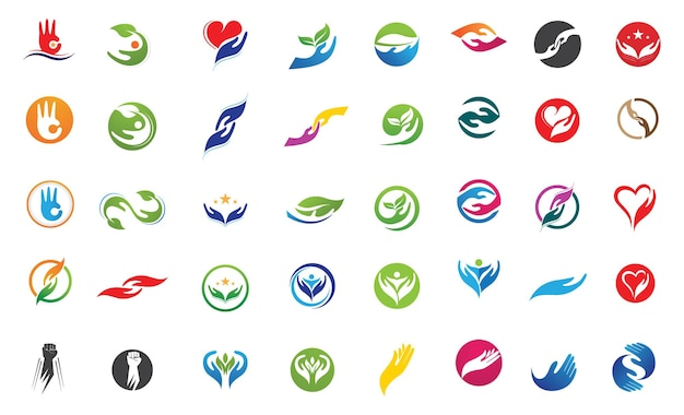 Уход за руками логотип и символ векторное изображение