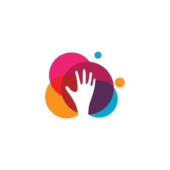 Значок логотипа по уходу за руками бизнес вектор символ шаблон