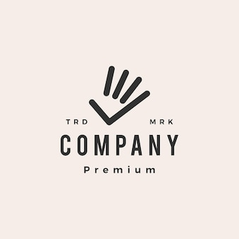 Hand check hipster vintage logo template