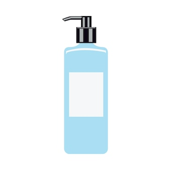 Hand cleaner. hand-drawn hand sanitizer isolated isolated on white. flat illustration. cleaner, sanitizer. gel for cleaning hands