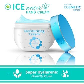 Hand cream cosmetics concept