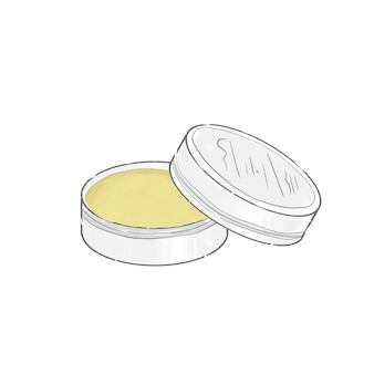 Hand cream and kneaded perfume. cute and simple art style. on a white background.