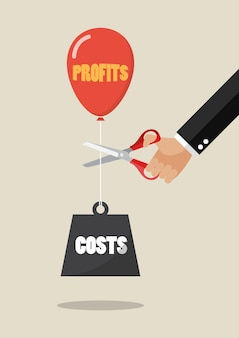 Hand cutting profits balloon and costs weight with scissors