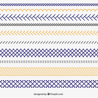 Hand dawn zigzag borders