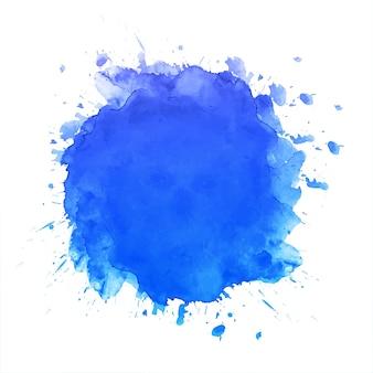 Hand draw blue splash watercolor background