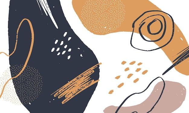 手描きのブラシの形の背景