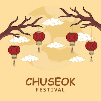 Рука рисовать концепцию фестиваля чусок. иллюстрация
