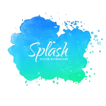 Hand draw colorful splash watercolor background