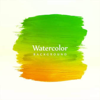 Hand draw colorful watercolor stroke background