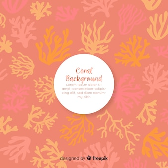 Hand draw coral background template