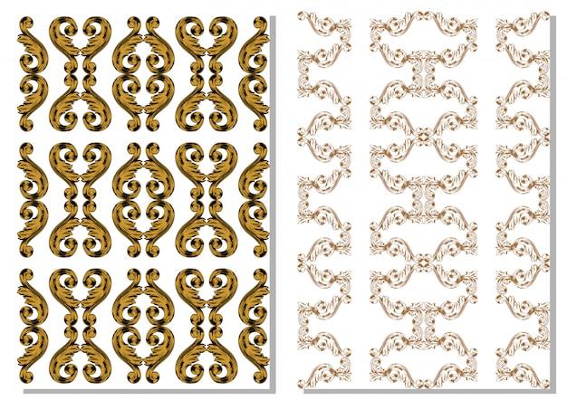 Hand draw decorative design vintage
