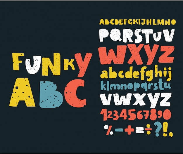 Hand draw doodle abc, alphabet grunge scratch type font  illustration.
