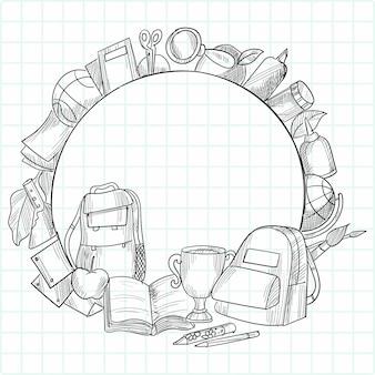 Disegnare a mano educazione e lavoro scarabocchiati