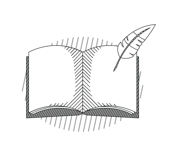 Hand draw education book cartoon