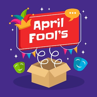 Hand draw illustration of april fools day.