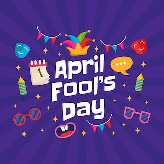 Рука рисовать иллюстрацию апрельского дня дураков.
