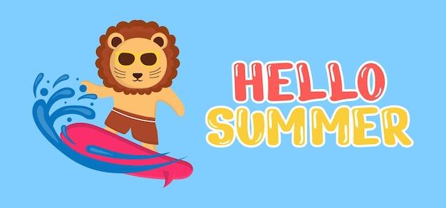 Рука рисовать иллюстрацию летнего приветствия баннера