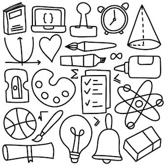 Рука рисовать набор значок образования