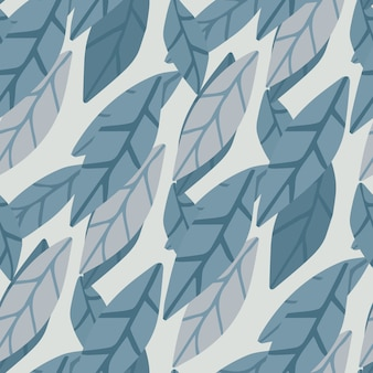 Hand draw simple leaves seamless pattern