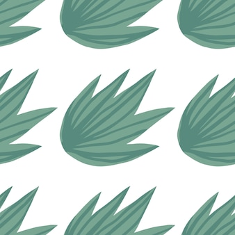 Hand draw simple tropical green leaves seamless pattern. exotic plant. summer design for fabric, textile print, wrapping paper, children textile