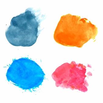 Hand draw splash watercolor set design