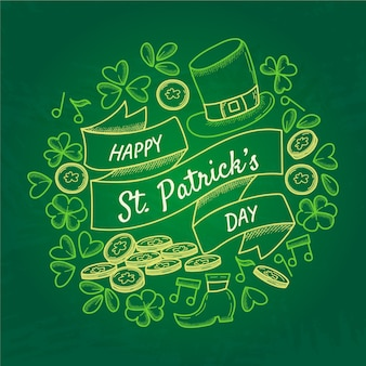 Hand-draw theme for st. patricks day event