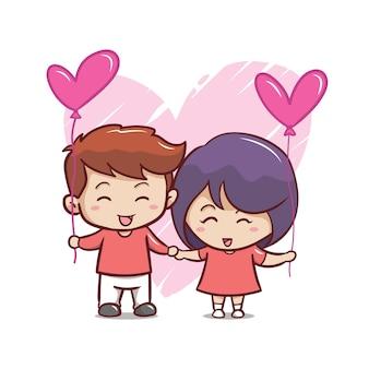 Hand draw valentine's day couple
