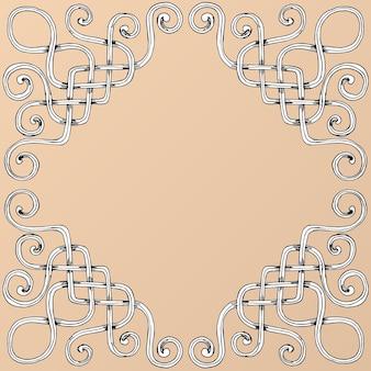 Hand draw vintage baroque frame scroll