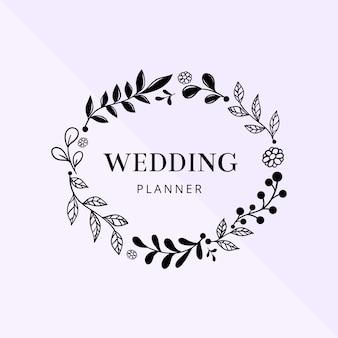 Hand draw wedding frame