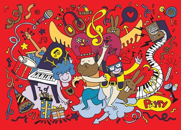 Ручной рисунок doodle