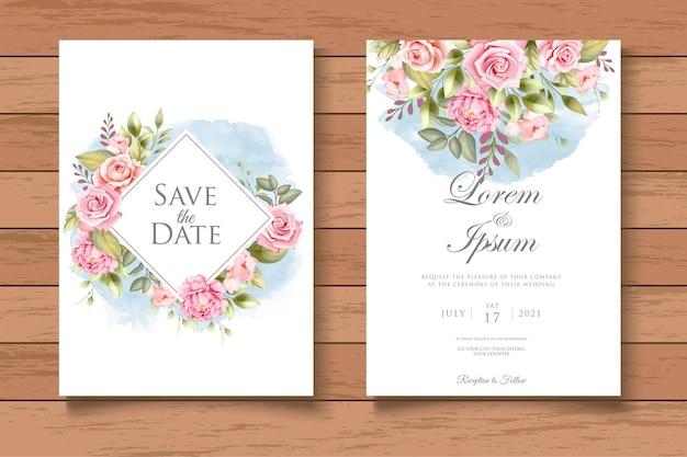 Рука рисунок цветочные свадебные приглашения шаблон