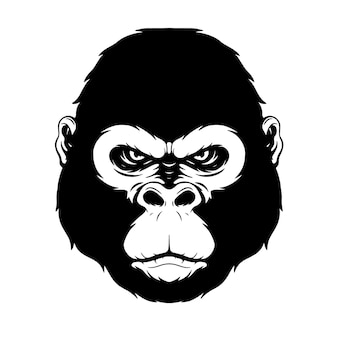 Hand drawing gorilla head gorilla head best for tattoo tshirt poster