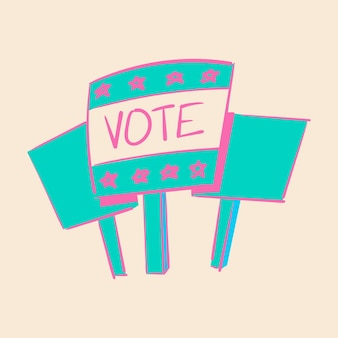 Hand drawing illustration of election concept