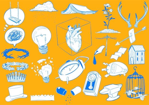 Illustrazione del disegno a mano del concetto di stile di vita
