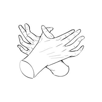 自由概念の手描きイラスト