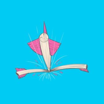 Иллюстрация ручного рисования цели цели