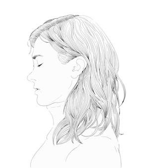 인간의 얼굴의 손을 그리기 그림