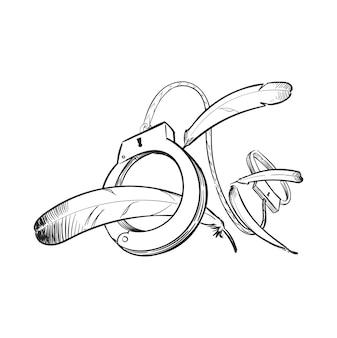 Иллюстрация ручного рисунка концепции справедливости