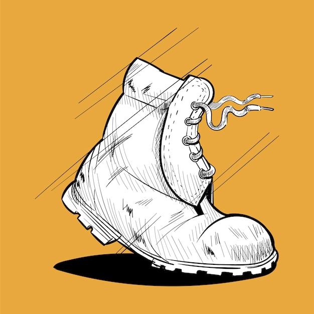 Insieme dell'illustrazione del disegno della mano delle icone di wanderlust
