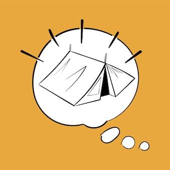 Hand drawing illustration set of wanderlust icons