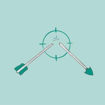 Illustrazione del disegno di successo del concetto di successo