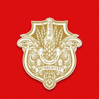 Hand drawing oktoberfest emblem