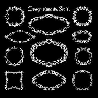Cornici ornamentali disegno a mano