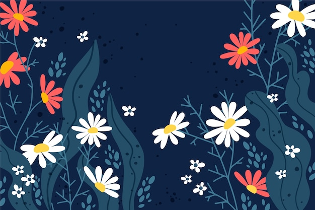 Hand-drawing spring theme for wallpaper