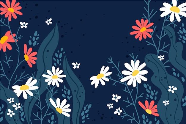 Tema primavera disegno a mano per carta da parati